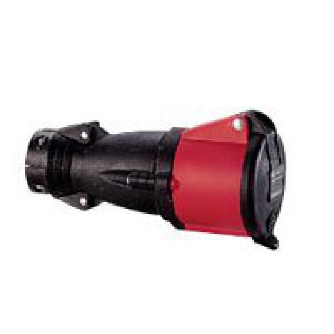 Mobile socket Hypra - IP44 - 380/415 V- 32 A - 3P+N+E - rubber