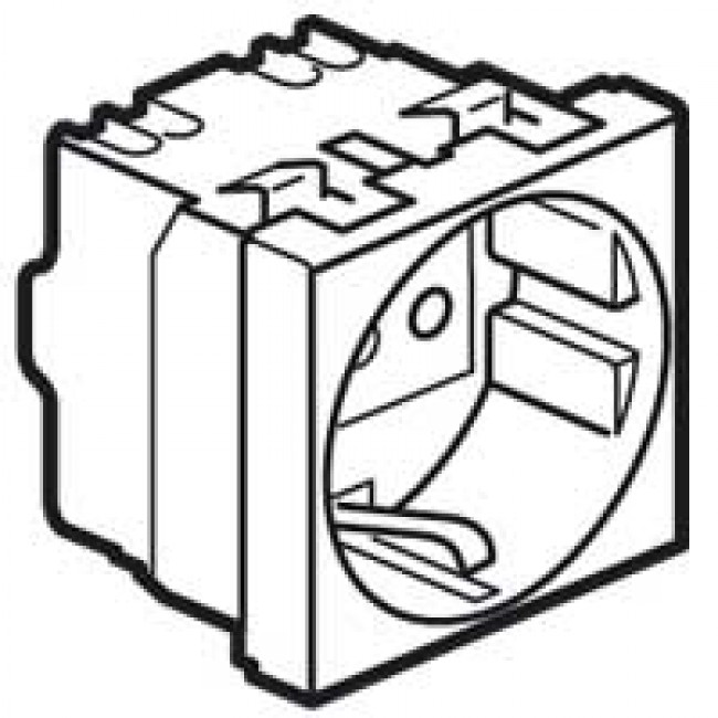 socket outlet mosaic italian 2p e 16 a screw terminals 1 Wiring Multiple Outlets and Lights socket outlet mosaic italian 2p e 16 a screw terminals 1 module white
