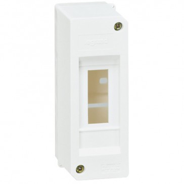 Terminal shield box - IP30 - without terminal block - 2 modules