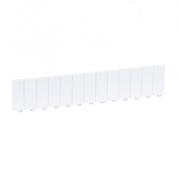 Blanking plate 13 modules - separable into modules or 1/2 modules - white