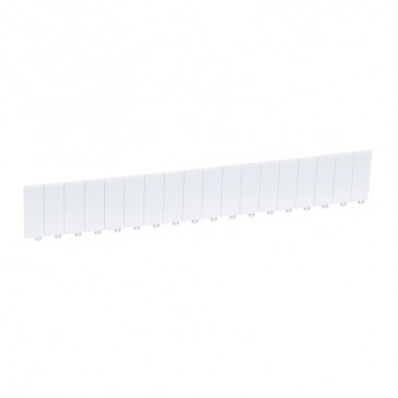 Blanking plate 18 modules - separable into modules or 1/2 modules - white