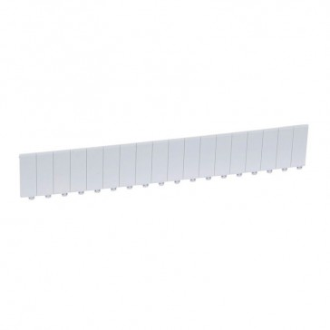 Blanking plate for Convivio 3-phase distribution boards - RAL 7035 - 18 modules - separable into modules or 1/2 modules