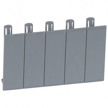 Blanking plates (5) - for PLEXO³ cabinets - separable - grey R746 A