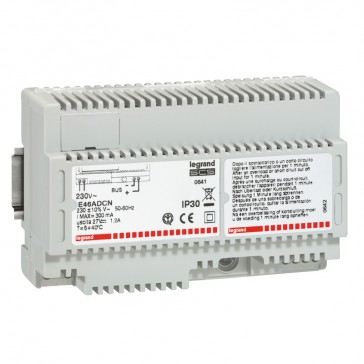 Power supply - BUS technology - for lighting control system - 8 DIN modules
