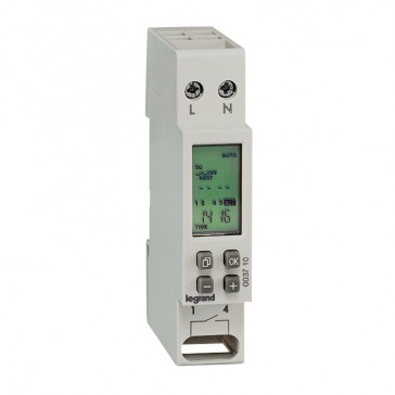 Programmable time switch with digital display - weekly 230 V~ - 50/60 Hz - 1 NO contact - 1 module