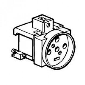 Socket outlet - 20 A 400 V~ - 3P+N+E - shuttered - french standard - Lexic