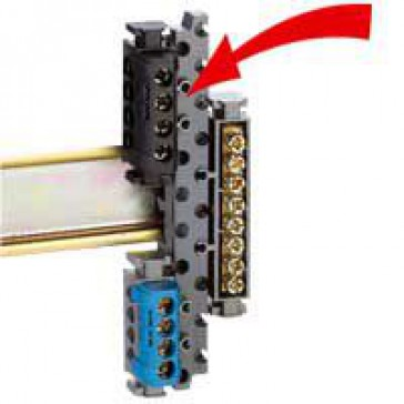 Terminal block support - universal - for mounting terminal block on rails
