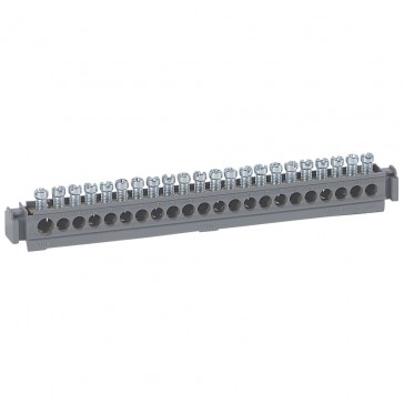 Terminal block on support - 21 x 1.5 to 16² - L. 176 mm