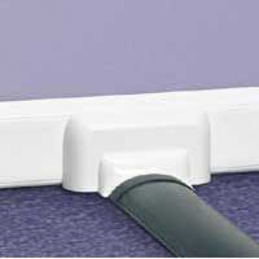 Junction to floor - for adaptable DLP - to use with 010771 / 010772 - white