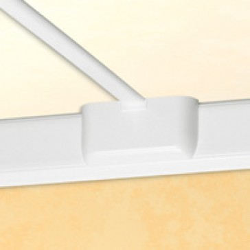 Junction for change of plane - for flexible cover DLP trunking cover width 85 mm - white