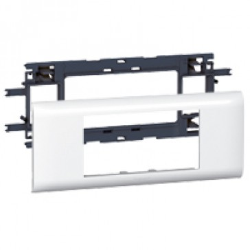 Mosaic support - for flexible cover DLP trunking cover depth 65 mm - 4 modules
