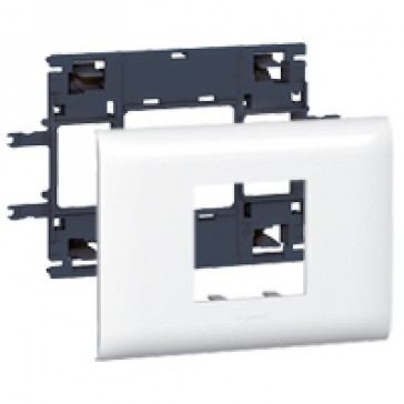 Mosaic support - for flexible cover DLP trunking cover depth 85 mm - 2 modules