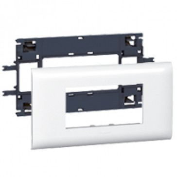 Mosaic support - for flexible cover DLP trunking cover depth 85 mm - 4 modules