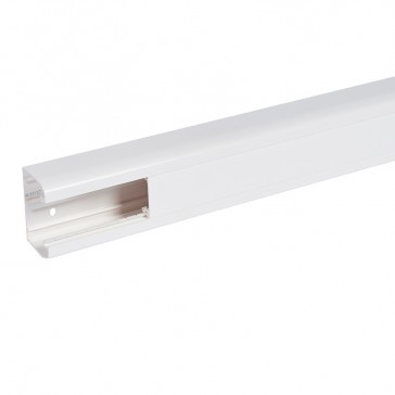 Flexible cover snap-on DLP trunking - 1 compartment - 50 x 80 - with cover 45 mm - 2.5 m - white
