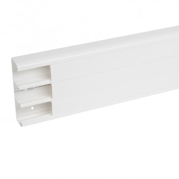 Flexible cover snap-on DLP trunking - 3 compartment - 50 x 180 - with cover 45 mm - 2.5 m - white