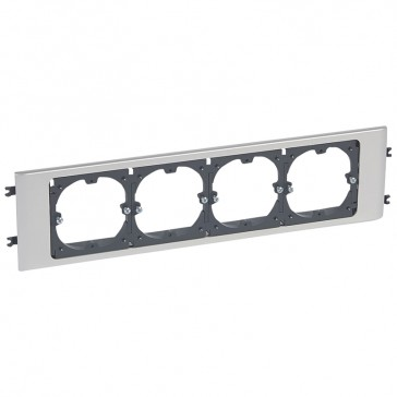 Support 60 mm fixing centres - for DLP Alu cover width 85 mm - 4 gang