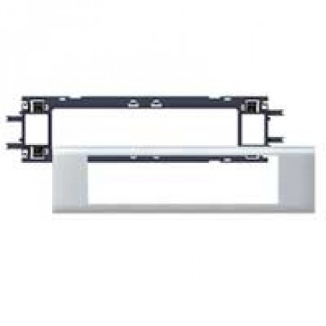 Mosaic / Arteor support-for aluminium adaptable DLP cover depth 65 mm - 8 modules