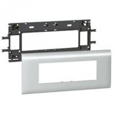 Mosaic / Arteor support-for aluminium adaptable DLP cover depth 85 mm - 6 modules