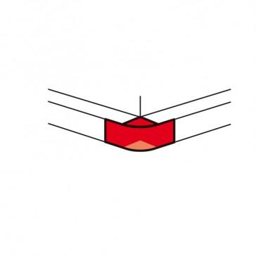 External angle - for aluminium adaptable DLP trunking 65x150