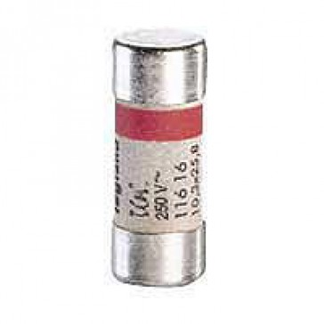 Domestic cartridge fuse - cylindrical type 10.3 x 25.8 - 10 A - without indicator