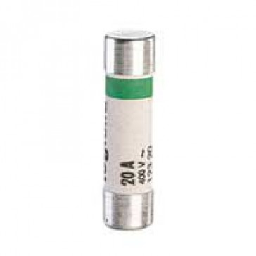 Domestic cartridge fuse - cylindrical type 8.5 x 31.5 - 20 A - with indicator
