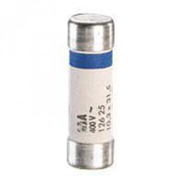 HRC cartridge fuse - cylindrical type gG 10 x 38 - 4 A - without indicator