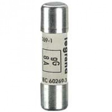 HRC cartridge fuse - cylindrical type gG 10 x 38 - 8 A - without indicator