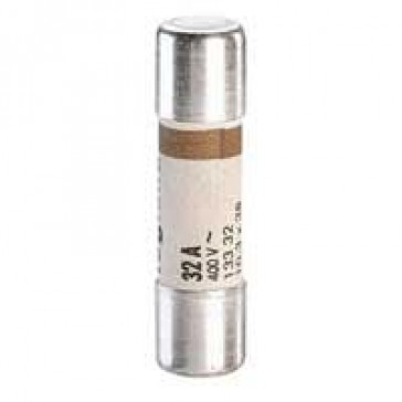 Domestic cartridge fuse - cylindrical type 10.3 x 38 - 32 A - with indicator