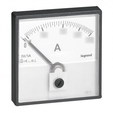 Measuring dial for ammeter - 0-1250 A - fixing on door