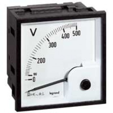 Voltmeter - square barrel 68x68 mm - for fixing on door