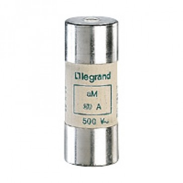 HRC cartridge fuse - cylindrical type aM 22 X 58 - 63 A - with indicator