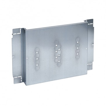 Plate XL³ 800/4000 - For 1 DPX-IS 630 front or rear terminals - 24 modules
