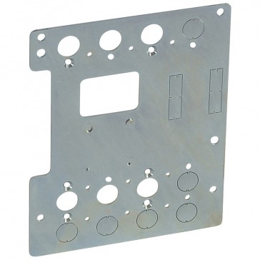 Mounting plates XL³ 4000 for 1 DPX³ 250 in transfer switch- vertical