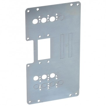 Mounting plates XL³ 4000 for 1 plug-in DPX³ 160 in transfer switch - vertical