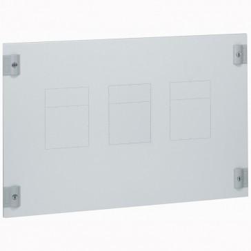 Metal faceplate XL³ 800/4000 - 1-3 DPX 250/630 - vertical - 1/4 turn - 24 modules