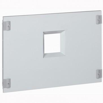 Metal faceplate XL³ 800/4000 - 1 DPX 1600 - horizontal - 1/4 turn - 24 modules