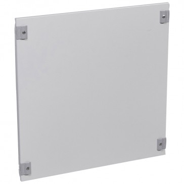 Solid metal faceplate XL³ 800 - 1/4 turn - 24 modules - h 600 mm
