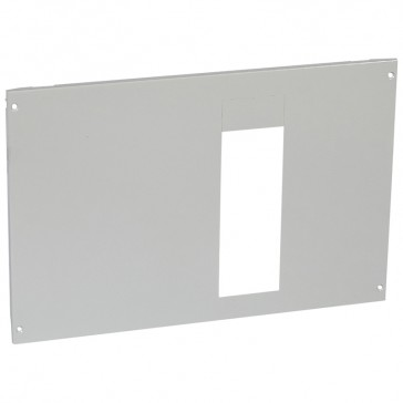 Metal faceplate XL³ 800/4000-For 1 DPX IS 630 H position-captive screws-24 modules