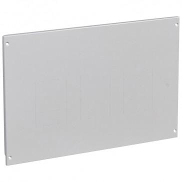 Metal faceplate XL³ 800/4000 - 1-3 DPX 250/630 - vertical - screws - 24 modules
