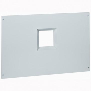 Metal faceplate XL³ 800/4000 - 1 DPX 1600 - horizontal - captive screws - 24 modules
