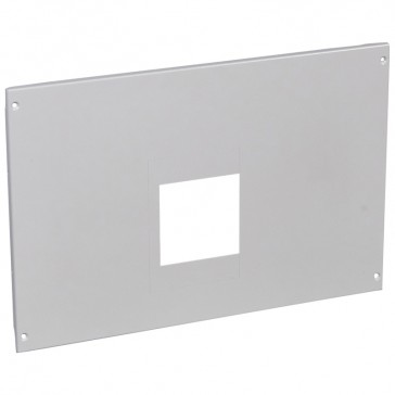 Metal faceplate XL³ 4000 - 1 DPX 1600 front terminals with motor-driven handle