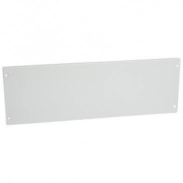 Solid metal faceplate XL³ 800 - captive screws - 24 modules - heigth 200 mm