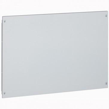 Solid metal faceplate XL³ 800 - captive screws - 24 modules - h 400 mm
