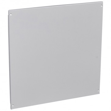 Solid metal faceplate XL³ 800 - captive screws - 24 modules - h 600 mm