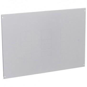 Metal faceplate XL³ 800/4000 - 1-3 DPX 250/630+elcb - vertical - screws - 36 modules