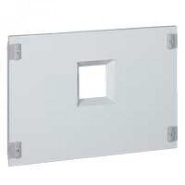Metal faceplate XL³ 800/4000 - 1 DPX 1600 - horizontal - captive screws - 36 modules