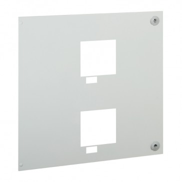 Metal faceplate for automatic transfer switch for XL³ S 4000 -for 2 draw-out DPX³ 630 with handle in horizontal position
