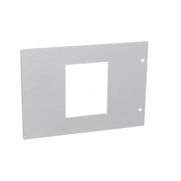 Metal faceplate XL³ 4000 - 36 modules - 1 DMX³/DMX³-I 1600 fixed - 850 mm