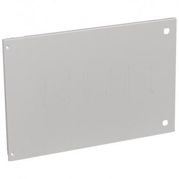 Metal faceplates XL³ 4000 for 1 to 3 plug-in DPX³ -direct rotary handle-vertical