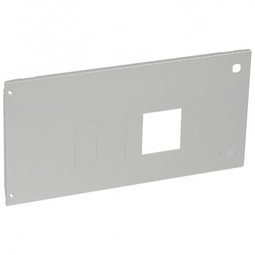 Metal faceplate XL³ 4000 - 1 DPX 630 plug-in - horizontal - hinges and locks